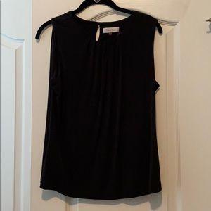 Calvin Klein black sleeveless shell
